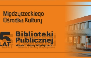 Slider promujący jubileusz Biblioteki Publicnej i Domu Kultury
