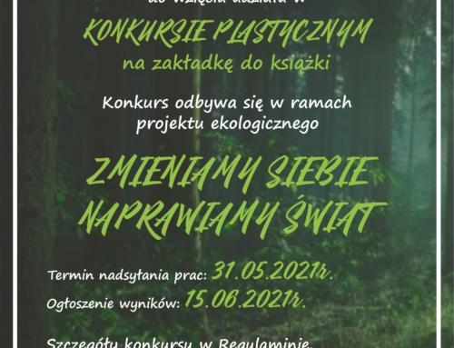 Konkurs plastyczny na ekologiczną zakładkę do książki