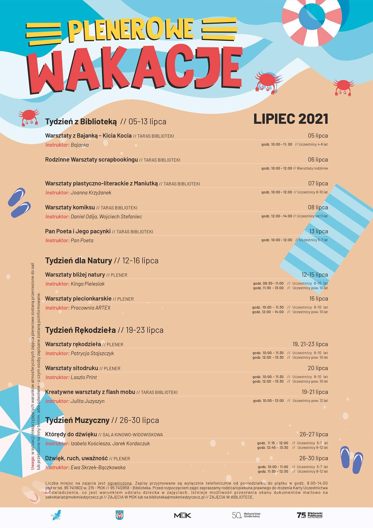 Plakat Plenerowe wakacje 2021