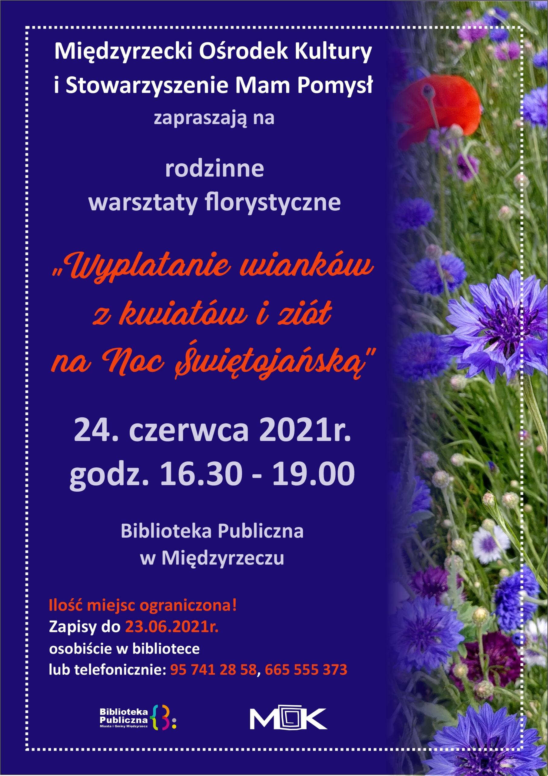Plakat z informacją o warsztatach