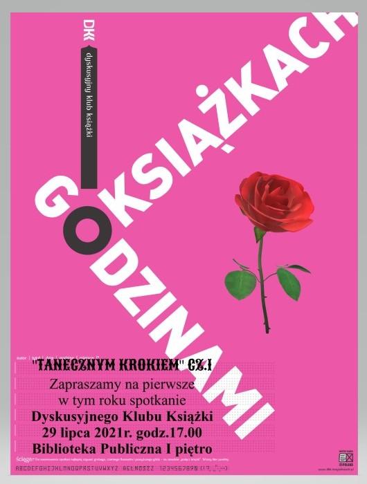 Plakat \Duskusyjnego Klubu Książki - Godzinami o książkach