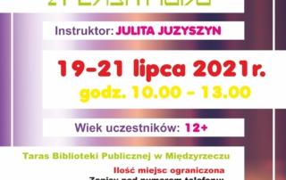 Plakat informujący o warsztatch